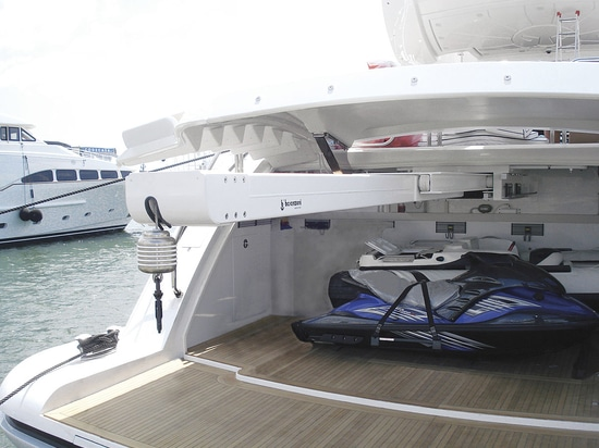 """Password: """"Yachting Easy"""", with BESENZONI tender hauling and launching systems"""