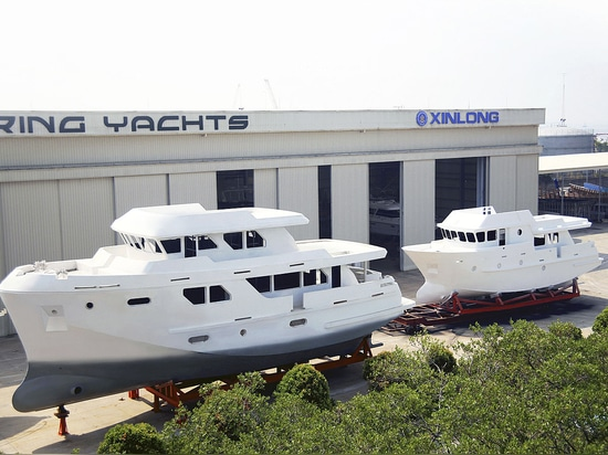 Bering 65 and Bering 80 under construction.