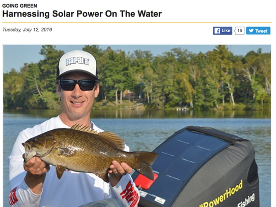 """From BassFan.com: """"Harnessing Solar Power On The Water"""""""