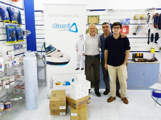 New distributor of Daevi marine products in Barceona