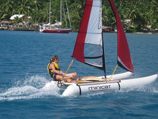 Laura sailing her 310 Sport