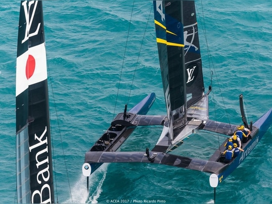 Artemis Racing staged a come back from a 3-1 deficit, shifting the balance in their favor, 4-3/