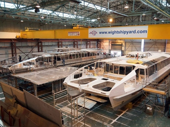 NEW CRAFT BUILT AT ISLE OF WIGHT FOR THAMES CLIPPERS