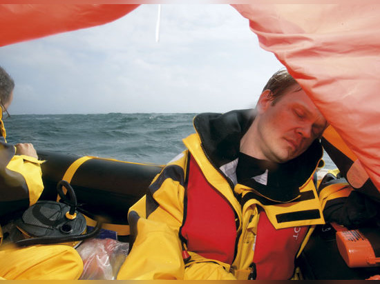 Seasickness took just 10 minutes to incapacitate the crew