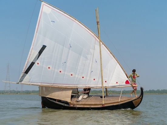The hull of the second boat, Gold of Bengal, is 100% jute (Courtesy of Gold of Bengal)