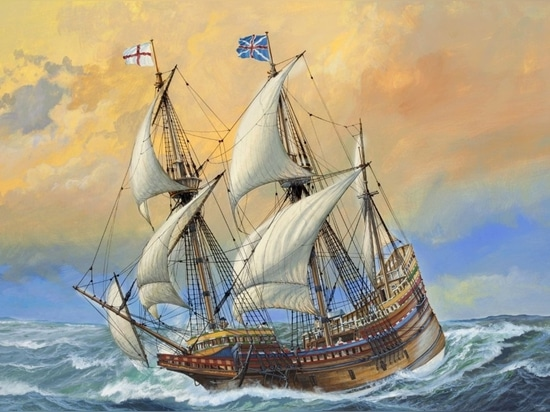 Painting of the Mayflower
