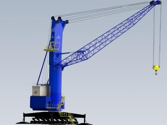 the 3rd generation Genma mobile harbor crane