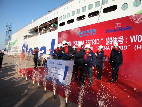 STENA LINE'S FIRST NEW GENERATION FERRY 'FLOATS' IN CHINA