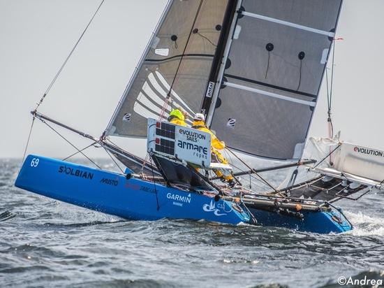 OceanCat crosses the finish line in Guadaloupe
