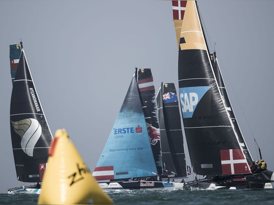 The fleet of nine GC32s competed in nine races on the penultimate day in the Muscat stadium.