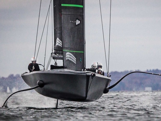 American Magic's crew explores the new foiling dynamics of the AC75