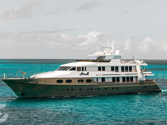 The 47m motor yacht Loon in Anguilla