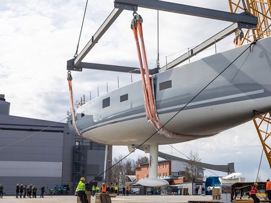 Liara will make her debut at the Monaco Yacht Show later this year Image courtesy of Baltic Yachts/Facebook S