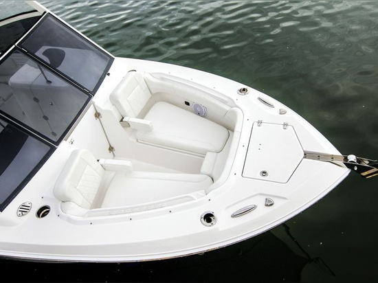 The bow offers spacious seating.Courtesy EdgeWater Boats