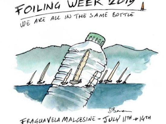 "2019 Foiling Week Garda ""We are all in the same BOTTLE"""