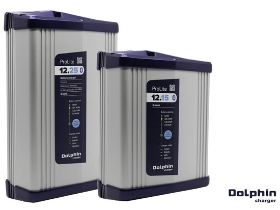 Dolphin Charger PROLITE IP65 and ISO8846 marine battery chargers for motorboats and pleasure craft