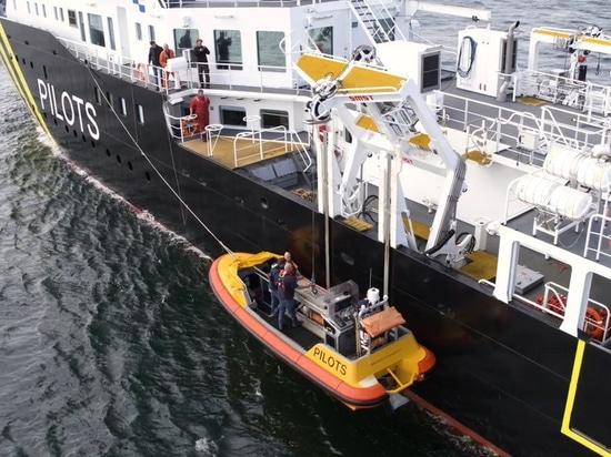 The Fast Launch Craft transfer pilots to and from seagoing vessels