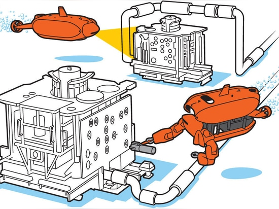 Aquatic Handyman: In submarine mode, Aquanaut surveys and inspects oil and gas equipment deployed on the seabed. In humanoid mode, the robot uses its arms to grasp specialized tools and operate val...