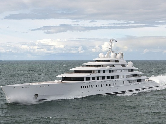 The Azzam superyacht.