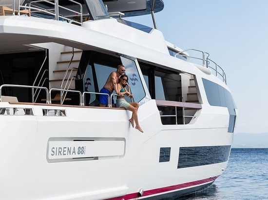 The Sirena 88's interior design was penned by Cor D Rover