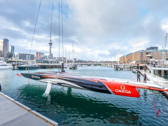 EMIRATES TEAM NEW ZEALAND LAUNCH THEIR FIRST BOAT