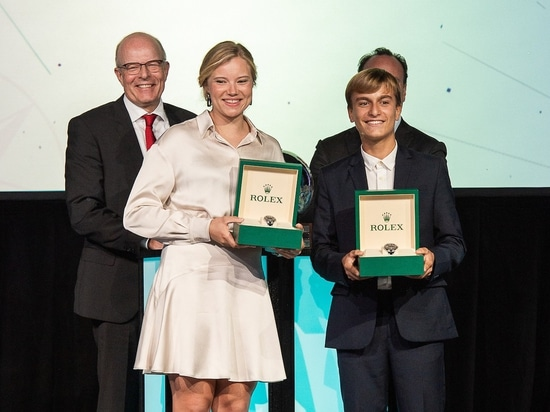Marco Gradoni becomes youngest Rolex World Sailor of the Year; Anne-Marie Rindom receives female honour