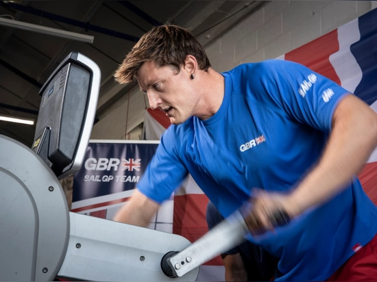 Matthew Barber during his fitness trials with the Great Britain SailGP Team.