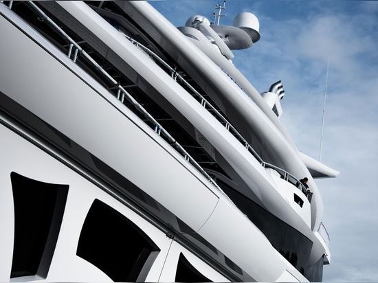 The yacht is among the first superyachts to meet IMO Tier III emissions regulations and features an innovative diesel-electric propulsion system