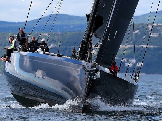 The yacht is the brand's first all-carbon design