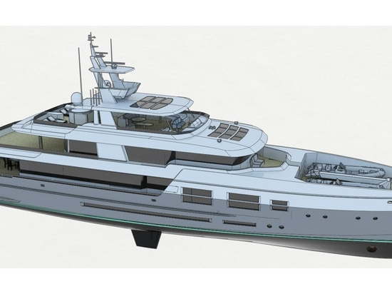 The yacht will feature natural interior materials