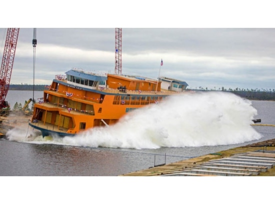 Eastern Shipbuilding launched the Michael H. Ollis for Staten Island Ferry on Nov. 15. Eastern Shipbuilding photo