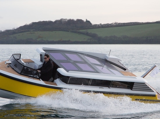 The tender can accommodate a total of 10 guests and reach top speeds of 37 knots