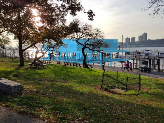 A rendering shows the new facilities at the 79th Street Boat Basin. Photo courtesy of New York Parks Department