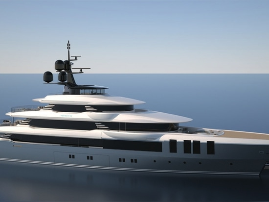The interiors of the 1680GT superyacht have been produced by H2 Yacht Design.