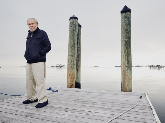 Laser designer, Bruce Kirby, in Noroton, Connecticut.