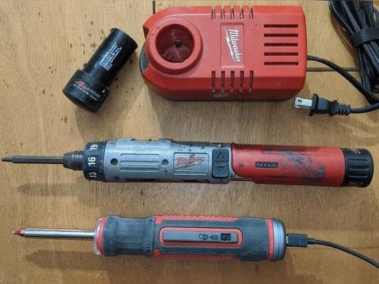 (old) Milwaukee versus Craftsman 4v cordless screwdrivers