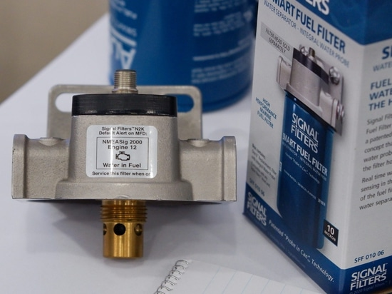 This filter head will raise its water-in-fuel alert on engine ID 12