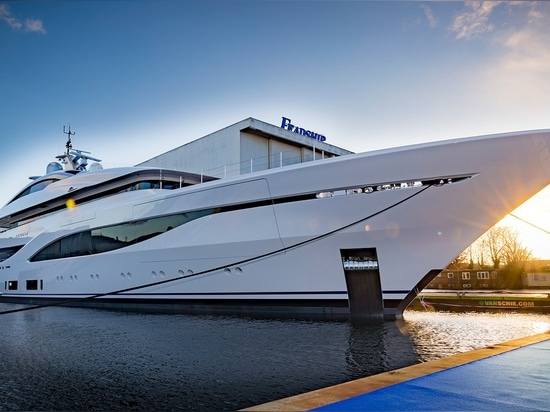 The newly launched 75 metre Feadship has been named Arrow.