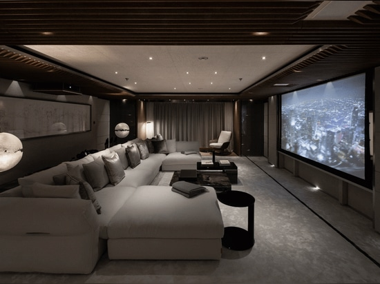 A dedicated cinema room on the main deck is kitted out with impressive AV.