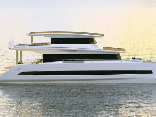The top deck can be enclosed and fitted out as an elevated owner's cabin