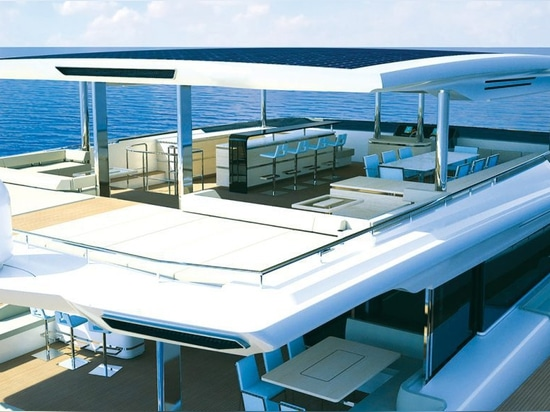 A 35ft beam makes for a spectacular flybridge with multiple socialising spaces
