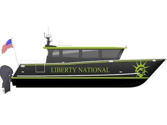 The vessel will transport passengers between North Cove Marina in New York and the private club's dock in New Jersey.