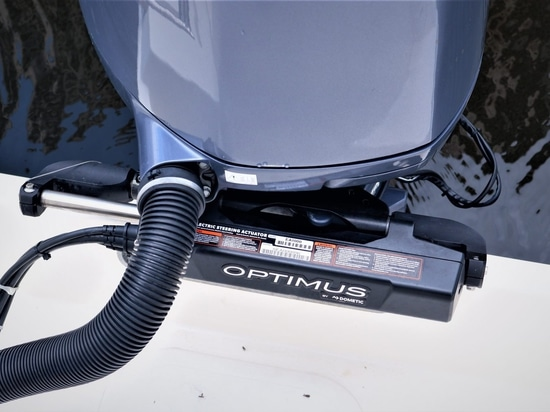 Dometic Optimus All Electric Steering System installed on Panbo(at)