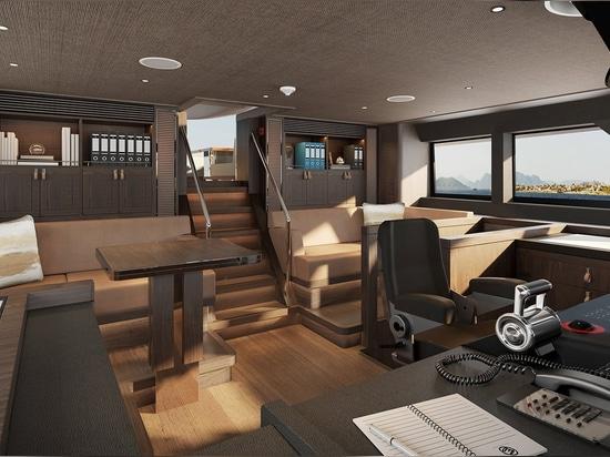The wheelhouse on board Project Mana