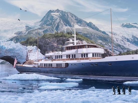 Turquoise Launches 56 Metre Hoek-Designed Explorer Yacht Blue II