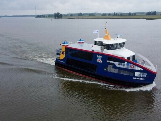Ferry has been built under contract that includes options for three sister vessels