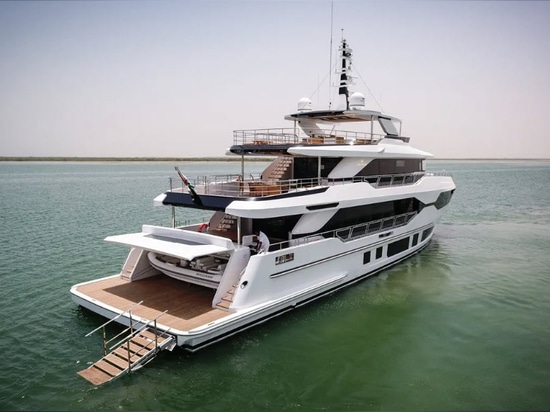 The Majesty 120 was revealed at the Monaco Yacht Show earlier this year