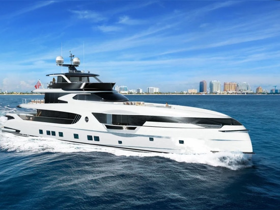 The most powerful engine set-up allows for a top speed of 25 knots