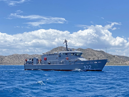 The vessel has been delivered to the Dominican Republic under a $54 million U.S. Navy contract awarded to Metal Shark to produce up to 13 85' Defiant-class patrol craft for U.S. partner nations.