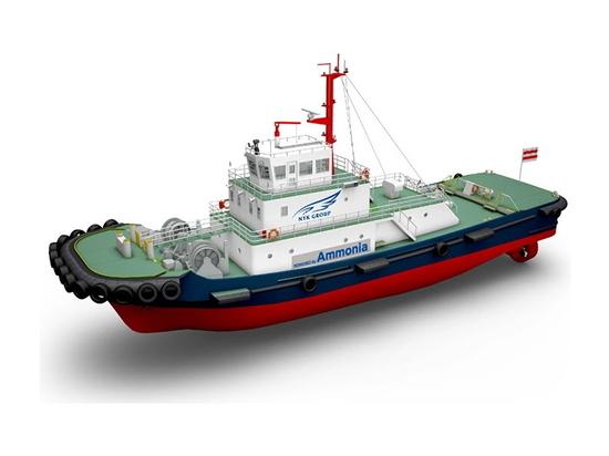 Ammonia fueled tugboat